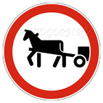 запрещающий знак движение гужевых повозок запрещено