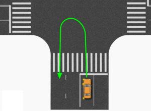 Разворот на дороге
