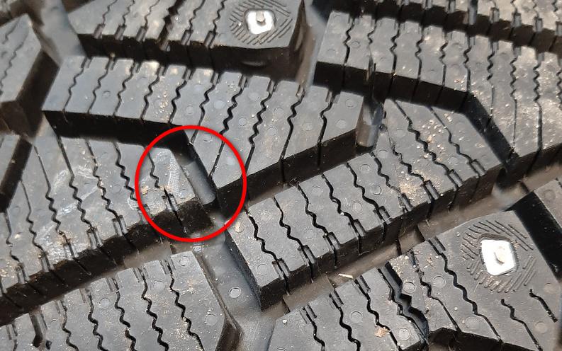 Износ рисунка протектора шин