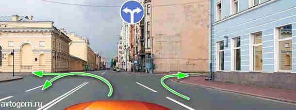 Билет №26 - Вопрос №8. В каких направлениях Вам можно продолжить движение по второй полосе?