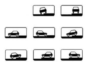8.6.2 - 8.6.9 указывают способ постановки легковых автомобилей и мотоциклов на околотротуарной стоянке.