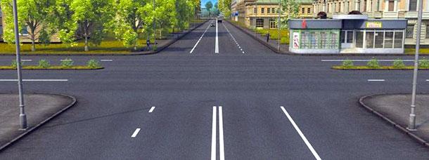 Сколько пересечений проезжих частей имеет этот перекресток
