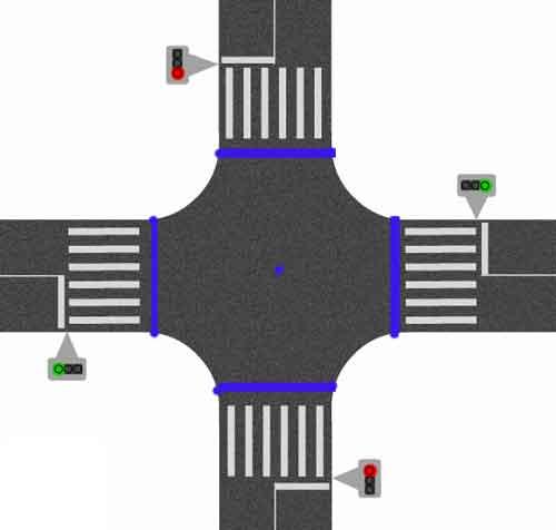 Перекресток определение ПДД - границы