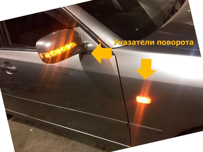 Водитель обязан подавать сигналы световыми указателями поворота (рукой)