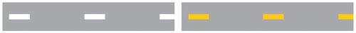 Жёлтая разметка на дороге - что обозначает по ПДД